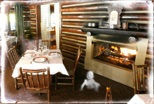 Photo illustration by Francisco Kjolseth and Blain Hefner  |  The Salt Lake TribuneThe haunted history at Log Haven restaurant includes the sounds of youngsters playing in the bar, once a children's bedroom in the old mansion.