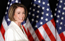 Alex Brandon  |  The Associated PressHouse Speaker Nancy Pelosi takes the stage to speak to supporters at an election night party in Washington. Utah's Blue Dog Democrat, Jim Matheson, says he won't vote for her to be minority leader.