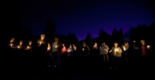 A crowd of about twenty attended a vigil for Susan Cox Powell at an LDS chapel in Puyallup, Wash., on Saturday to remember her three months after her disappearance.