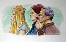From left, Mary Katherine Smart, her mother Lois Smart, and father Ed Smart are depicted in this courtroom sketch Monday, Nov. 8, 2010 in Salt Lake City. Opening arguments in the Brian David Mitchell trial relating to the kidnapping of Elizabeth Smart in 2002 resumed Monday after a three-judge panel of the Federal Appeals Court stopped the trial last Thursday in a motion to have it moved out of Utah.  (AP Photo/Jimmy Lucero)