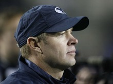 Trent Nelson  |  The Salt Lake Tribune BYU coach Bronco Mendenhall,  BYU vs. New Mexico, Saturday, November 20, 2010.