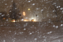 Snow in Draper as the storm hit on Tuesday night. Photo courtesy Steve Chambers.