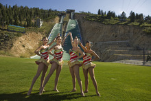 In August 2010, four Rockettes came from Radio City Music Hall to visit Utah. They visited Rio Tinto Stadium, Olympic Park, Park City Mountain Resort and, of course, Temple Square. They will perform in Utah beginning on Black Friday. Michael Brandy   