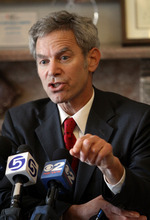Salt Lake City Mayor Ralph Becker spoke at a press conference about a Chevron oil spill at the University of Utah. Approximately 100 barrels of crude oil was released near Red Butte Canyon. Stephen Holt / Special to the Tribune