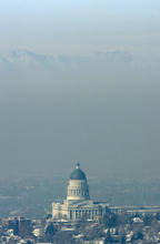 Steve Griffin     The Salt Lake Tribune   The morning sunlight shines on the Utah state capitol as the rest of the Salt Lake valley is covered by inversion December 2, 2010.