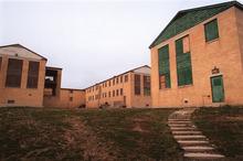 Dormatories at historic Intermountain Indian School in Brigham City that will soon be torn down. ryan galbraith 3.15.01