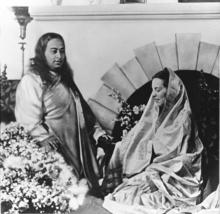 Sri Daya Mata with Paramahansa Yogananda, SRF Hermitage in Encinitas, Calif., 1939. Courtesy of Self-Realization Fellowship, Los Angeles.