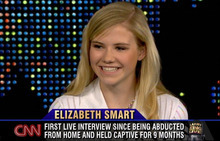 This photo taken from television and released by CNN shows Elizabeth Smart during an episode of