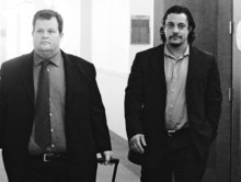 Leah Hogsten  |  The Salt Lake Tribune A state court judge on Wednesday, December 15, 2010, in Salt Lake City convicted mixed-martial arts fight promoter Mike Stidham (right, walking with attorney Tyler Ayres) of felony assault. Stidham's co-defendant, Salvador Sanchez, also was convicted by 3rd District Judge Ann Boyden, who presided in the bench trial requested by the two men. The third-degree felonies carry a possible prison sentence of up to five years, but both men are likely to ask for probation only.