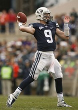 Trent Nelson  |  The Salt Lake Tribune BYU quarterback Jake Heaps opened the eyes of his teammates, coaches and Cougar fans with his performance in the regular season-ending loss at Utah. The freshman finished fast againsth the Utes after a slow start to the season.