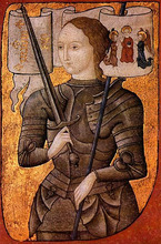 Joan of Arc claimed that she had visions from God to lead the French army.