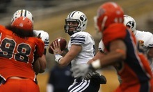 Trent Nelson  |  The Salt Lake Tribune BYU quarterback Jake Heaps (9) as BYU defeats UTEP in the New Mexico Bowl, college football Saturday, December 18, 2010 in Albuquerque, New Mexico.