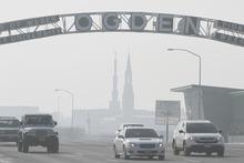 Rick Egan   |  The Salt Lake Tribune  Looking south on Washington Boulevard toward downtown Ogden, on Friday, Jan. 7, 2011.