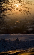 Djamila Grossman  |  The Salt Lake Tribune  View of Provo, seen from the foothills through the fog of the inversion, Friday, Jan. 7, 2011.