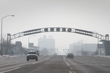 Rick Egan   |  The Salt Lake Tribune  Looking south on Washington Boulevard toward downtown Ogden, on Friday, Jan. 7, 2011.