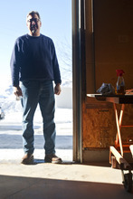 Chris Detrick  |  The Salt Lake Tribune  Craftsman Tom Tosti, at his workshop in Oakley, prays before he starts building any piece of furniture. His family business specializes in religious furnishings.