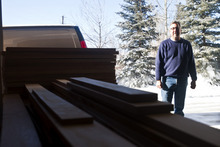 Chris Detrick  |  The Salt Lake Tribune  Craftsman Tom Tosti, at his workshop in Oakley, named his business -- Tekton Woodworks -- in honor of two carpenters: Jesus and his stepfather, Joseph.