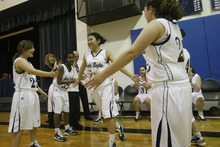 Chris Detrick  |  The Salt Lake Tribune  West Ridge Academy's Tonya Wilson #20 is introduced during the game at West Ridge Academy Thursday January 20, 2011.