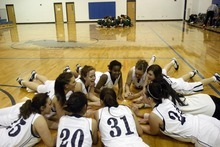 Chris Detrick  |  The Salt Lake Tribune  West Ridge Academy huddles before the game at West Ridge Academy Thursday January 20, 2011.