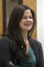 Chris Detrick  |  The Salt Lake Tribune  Melissa Papaj talks to reporters Wednesday at Ogden Regional Medical Center. Papaj has had robotic heart surgery.