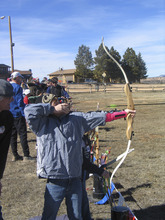 Brett Prettyman | The Salt Lake Tribune Tucker Francis, 10, prepares to shoot an arrow during the archery clinic at the annual Bryce Canyon Winter Festival.
