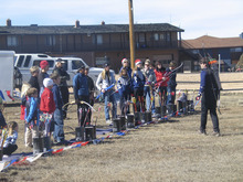 Brett Prettyman | The Salt Lake Tribune  Eric Quilter, a member of the U.S. Archery Biathlon team for six years, talks to participants about the technique of shooting a bow during an archery clinic at the 22nd Annual Bryce Canyon Winter Festival.