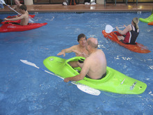 Brett Prettyman | The Salt Lake Tribune  Charlie Butler, facing camera in the pool, of Wasatch Touring in Salt Lake City, helps a participant  in  the kayaking clinic at a past Bryce Canyon Winter Festival.