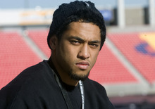 Al Hartmann   |  The Salt Lake Tribune  Salt Lake Valley's football stars descended on Rio Tinto Stadium for a breakfast and signing event.  Harvey Langi a running back from Bingham High School and Salt Lake Tribune 5A Player of the Year, signed onto the University of Utah football team.