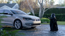 In this screen shot provided by Volkswagen of America, a child actor portraying Darth Vader, uses the Force on a 2012 Volkswagen Passat, in a 2011 Super Bowl XLV. (AP Photo/Volkswagen of America)