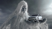 This screen shot provided by Kia Motors Corp., shows a scene from the Super Bowl commercial titled