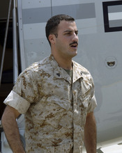 U.S. Marine Cpl. Wassef Ali Hassoun, who disappeared in Iraq and turned up in Lebanon three weeks later, arrives at Quantico Marine base, Va., in this July 15, 2004 file photo. Hassoun allegedly faked his kidnapping in Iraq. His family has renewed interest i a book deal to