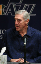 Leah Hogsten  |  The Salt Lake Tribune Jerry Sloan resigned as coach of the Utah Jazz on Thursday, Feb. 10, 2011, in Salt Lake City, bringing to a stunning end a long career in Utah that included most of his 1,221 career coaching victories and induction into the Basketball Hall of Fame. Longtime assistant coach Phil Johnson also resigned.