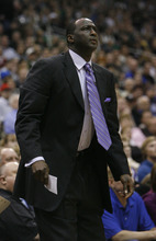 Photo by Chris Detrick | The Salt Lake Tribune  Utah Jazz head coach Tyrone Corbin during the game against Phoenix at the EnergySolutions Arena Friday February 11, 2011.