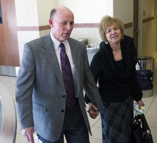 Al Hartmann      The Salt Lake Tribune  Richard and Tamara Davis, parents of Kiplyn Davis, leave 3rd Distict Courthouse in West Jordan after the verdict on Friday.  Defendant Timmy Olsen pleaded guilty to second-degree felony manslaughter in the death of Kiplyn Davis. Olsen said he witnessed the killing of the 15-year-old girl in 1995.