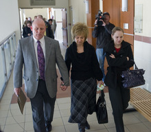 Al Hartmann      The Salt Lake Tribune  Richard, Tamara and Karissa Davis, the parents and younger sister of Kiplyn Davis, leave 3rdd Distict Courthouse in West Jordan after the verdict on Friday. Defendant Timmy Olsen pleaded guilty to second-degree felony manslaughter in the death of Kiplyn Davis.