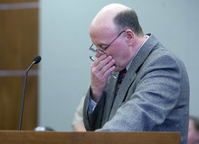 The Associated Press pool photo  Richard Davis gives a statement in 3rd District Court Friday. Timmy Brent Olsen pleaded guilty to manslaughter in Kiplyn Davis's death.