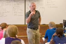Paul Fraughton  |  Tribune file photo Salt Lake School District Teacher of the Year Rob Gardner teaches his class in August at Highland High School in Salt Lake City.