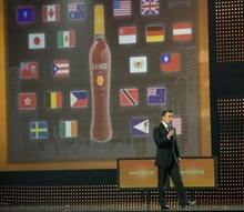 Aaron Garrity, CEO of XanGo, addresses conventioneers in Salt Lake City in 2007. Tribune file photo