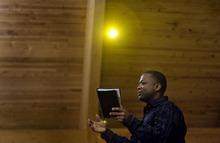 Djamila Grossman  |  The Salt Lake Tribune Pastor Bernie Anderson, a Christian minister, talks to the audience during