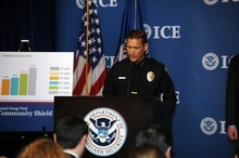 Courtesy of U.S. Immigration and Customs EnforcementSouth Salt Lake Police Chief Chris Snyder attends a news conference in Washington, D.C., on Tuesday, where he talked about arrests made as part of Project Southern Tempest.
