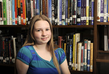 Sarah A. Miller  |  The Salt Lake Tribune  Cottonwood High senior Katrina Wright, 17, won the Siemens Award for Advanced Placement by scoring a perfect five in her math and science tests.