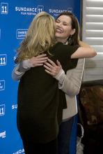 Steve Griffin  |  The Salt Lake Tribune   Geena Davis hugs