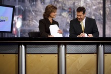 Trent Nelson     Salt Lake Tribune file photo Anchors Mary Nickles and Ron Bird broadcasting 2News at Noon at the KUTV studio on Main Street.