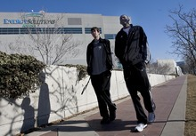 Djamila Grossman  |  The Salt Lake Tribune  Utah Jazz rookies Gordon Hayward and Jeremy Evans walk to get lunch in Salt Lake City, Thursday, Feb. 3, 2010.