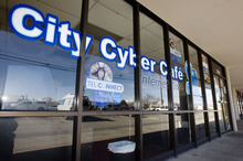 Steve Griffin  |  The Salt Lake Tribune   The City Cyber Cafe at 2290 S. Redwood Road  in West Valley City was raided by West Valley City police and is now closed.