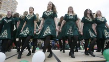 Paul Fraughton  |  The Salt Lake Tribune Irish dancers from Rinceori Don Spraoi entertain the crowds at a past St. Patrick's parade in Salt Lake City.