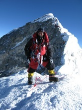 Apa Sherpa of Draper pauses on his way to Mount Everest in May 2010 during his successful attempt to best his own world record for trips to the highest point on the planet. Apa returns to Nepal in 2011 for attempt No. 21. Courtesy Apa Sherpa