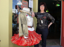 Bobbi Bryant is concerned about the dangers of extra trucks on the road and environmental problems from the Coal Hollow Mine near Alton. Bryant owns the Bronco Bobbi's store on Main Street in Panguitch.   Rick Egan   |  The Salt Lake Tribune file photo