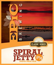 Courtesy photo The label on Epic Brewing's Spiral Jetty IPA has run afoul of the arts foundation that holds the copyright on the