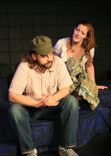 Travis Hyer plays Joshua with Ashley Jean Bonner as Rahab in the premiere production of BYU professor Eric Samuelsen's play